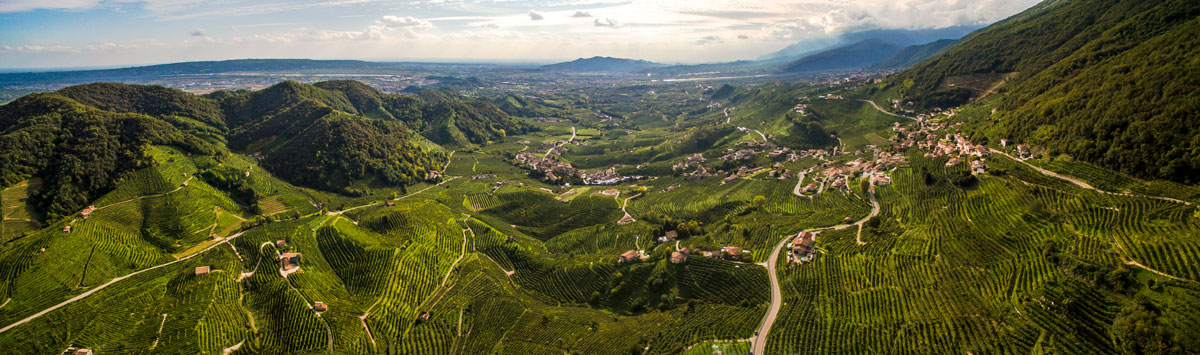 The Prosecco hills are UNESCO World Heritage Site